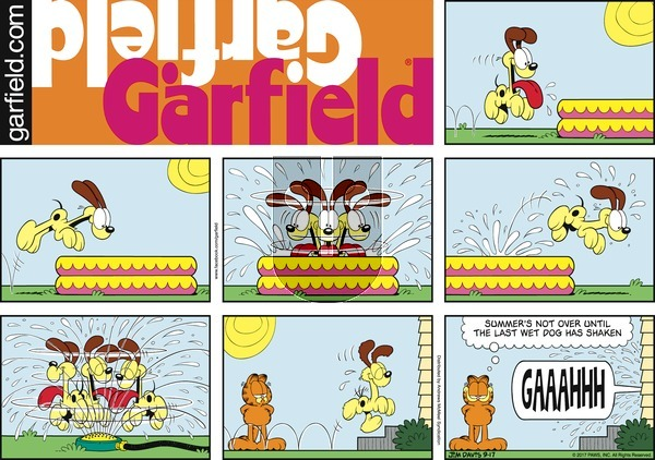 Garfield on Sunday September 17, 2017 Comic Strip