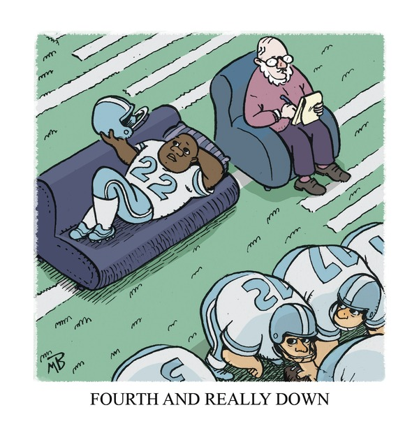 NFL sports cartoon