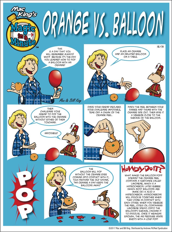 Magic in a Minute Comic Strip for December 31, 2017