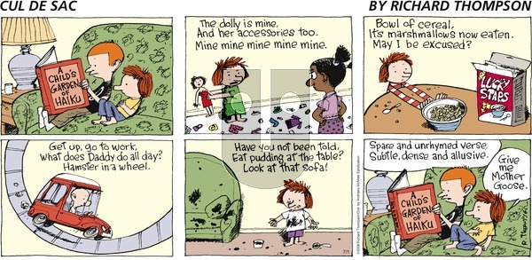 Cul de Sac on Sunday July 1, 2018 Comic Strip