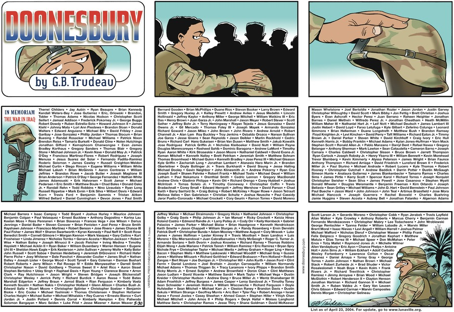 Doonesbury Comic Strip for May 30, 2004