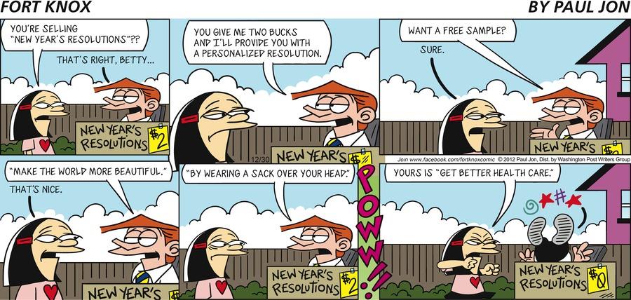 Fort Knox for Dec 30, 2012 Comic Strip