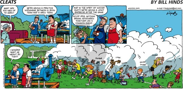 Cleats on Sunday September 8, 2002 Comic Strip