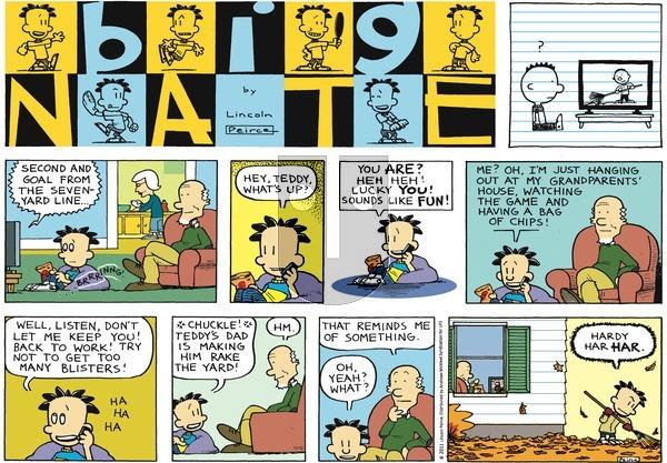 Big Nate on Sunday November 12, 2017 Comic Strip