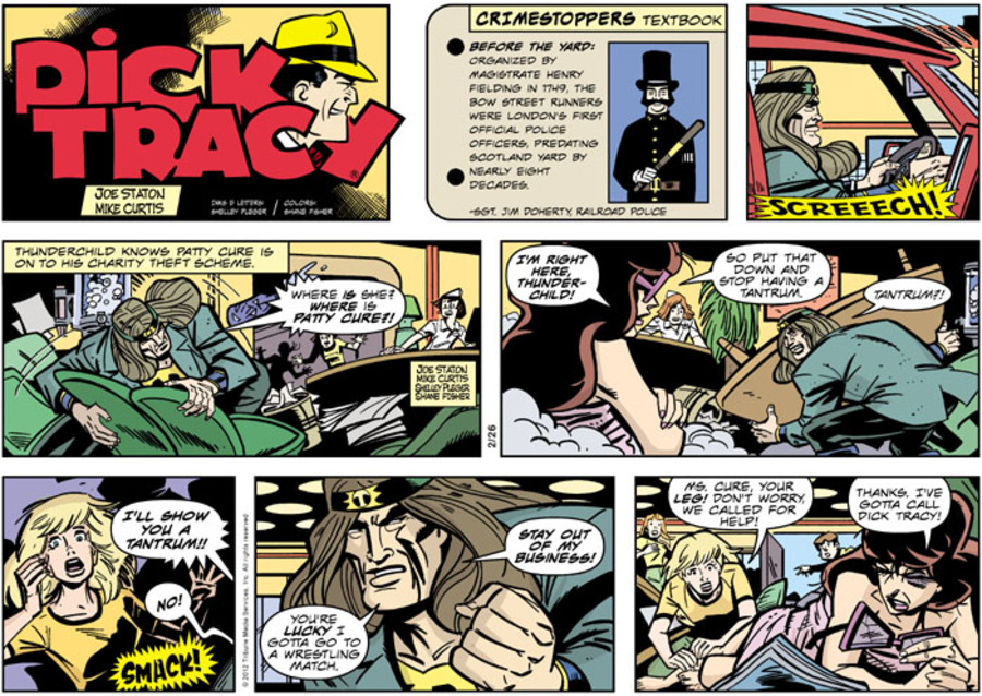 Dick Tracy for Feb 26, 2012 Comic Strip