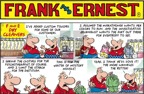 Frank and Ernest on Sunday February 7, 2021 Comic Strip