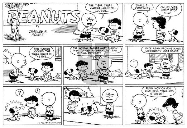 Peanuts on Sunday September 21, 1952 Comic Strip