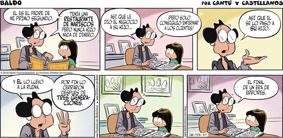 Baldo en Español Comic Strip for April 01, 2018