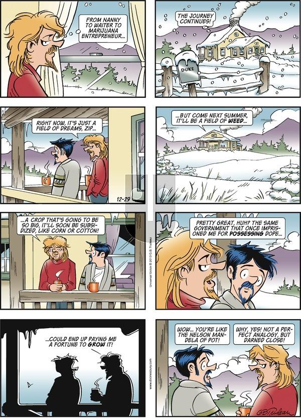 Doonesbury - Sunday December 29, 2013 Comic Strip
