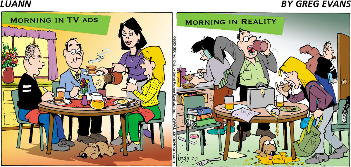Luann Comic Strip for February 02, 2003