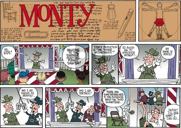 Monty on Sunday July 24, 2016 Comic Strip