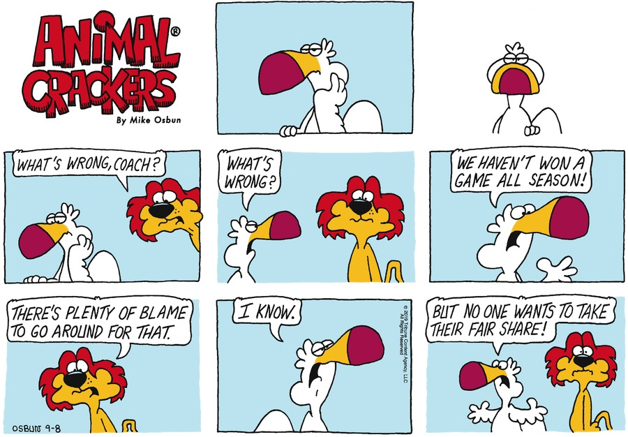 Animal Crackers by Mike Osbun for September 08, 2019