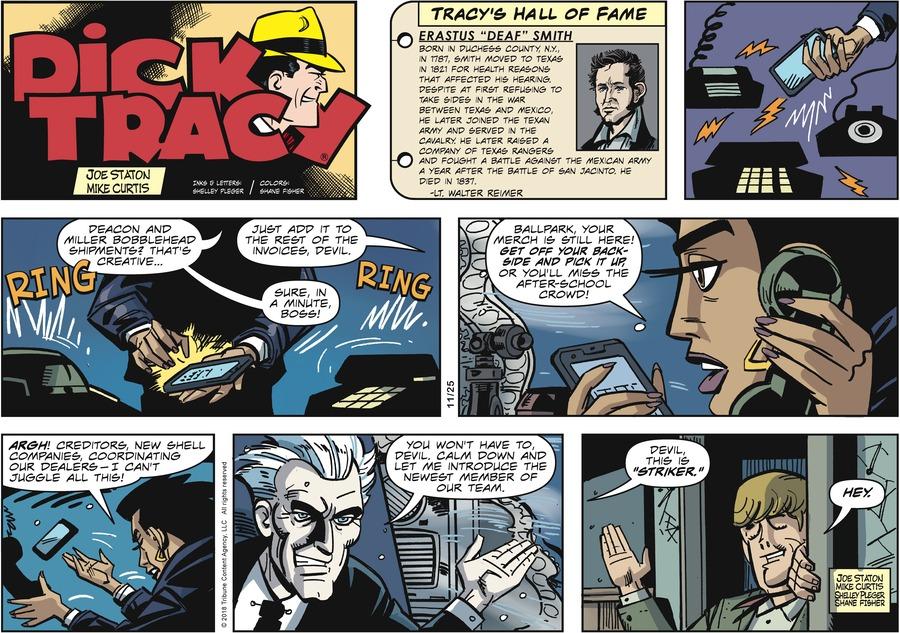 Dick Tracy Comic Strip for November 25, 2018