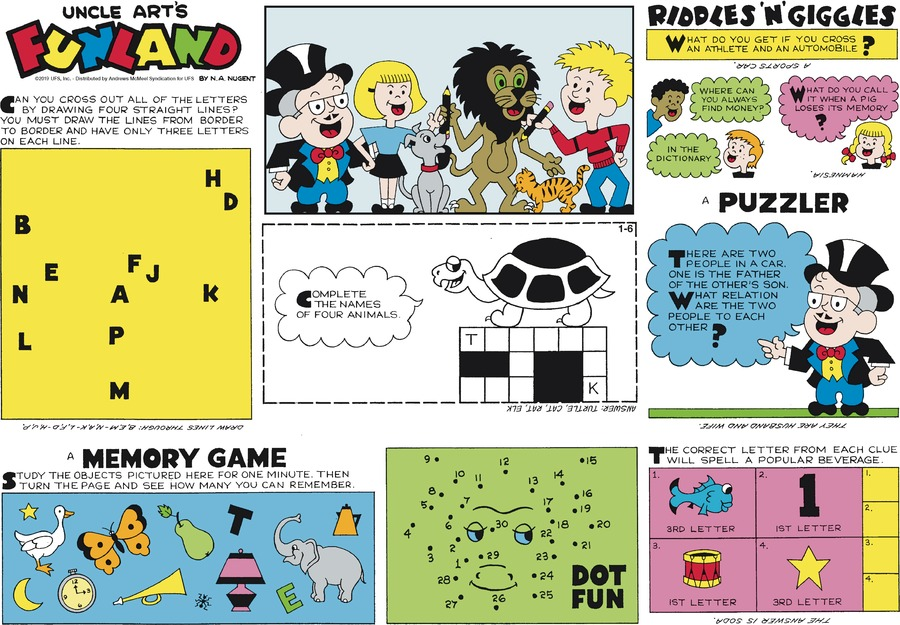 Uncle Art's Funland Comic Strip for January 06, 2019