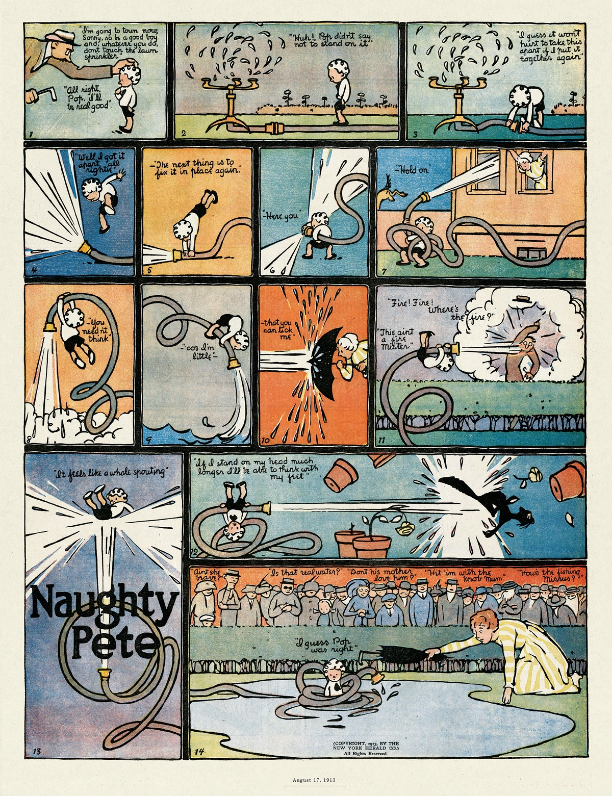 Origins of the Sunday Comics Comic Strip for August 23, 2015
