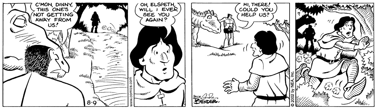 Alley Oop for Aug 9, 2002 Comic Strip