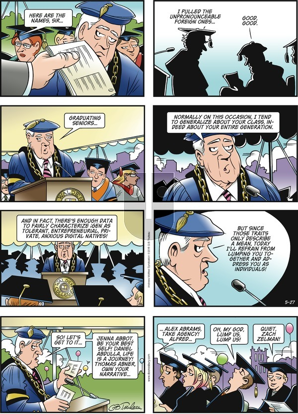 Doonesbury on Sunday May 27, 2018 Comic Strip