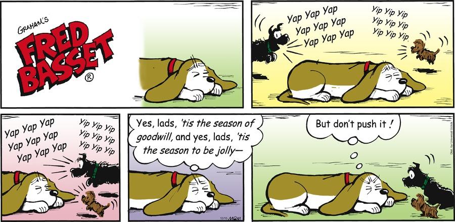 Fred Basset Comic Strip for December 15, 2013