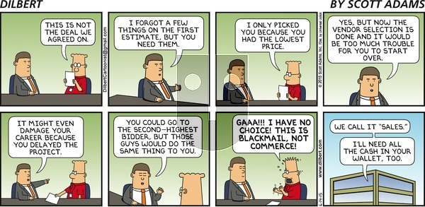 Dilbert on Sunday June 14, 2015 Comic Strip
