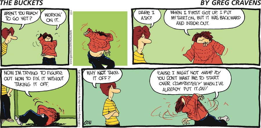 The Buckets Comic Strip for September 11, 2016