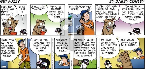 Get Fuzzy on Sunday July 8, 2012 Comic Strip