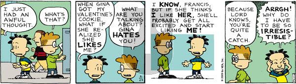 Big Nate on Monday February 23, 2009 Comic Strip