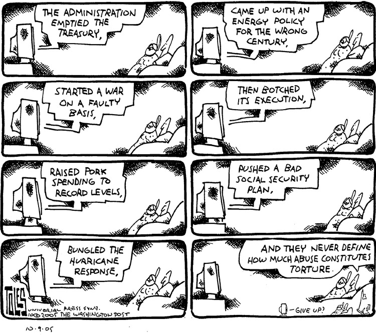Tom Toles Comic Strip for October 09, 2005
