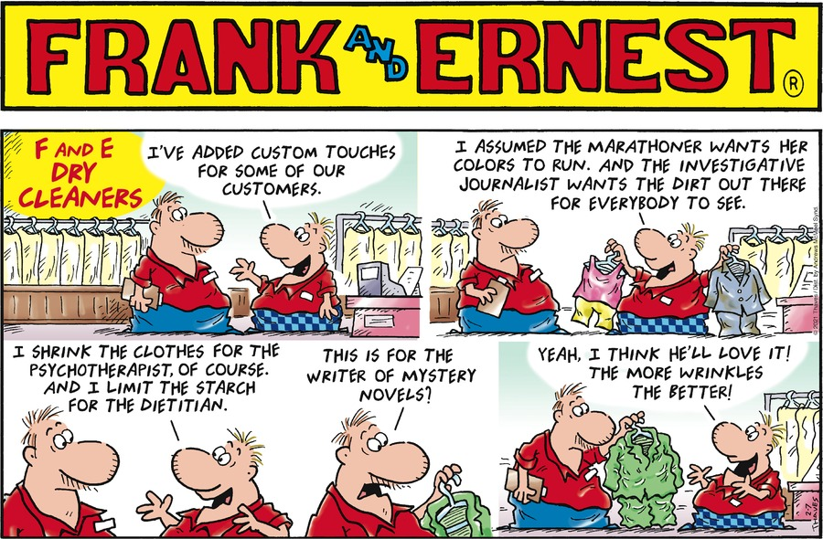 Frank and Ernest Comic Strip for February 07, 2021