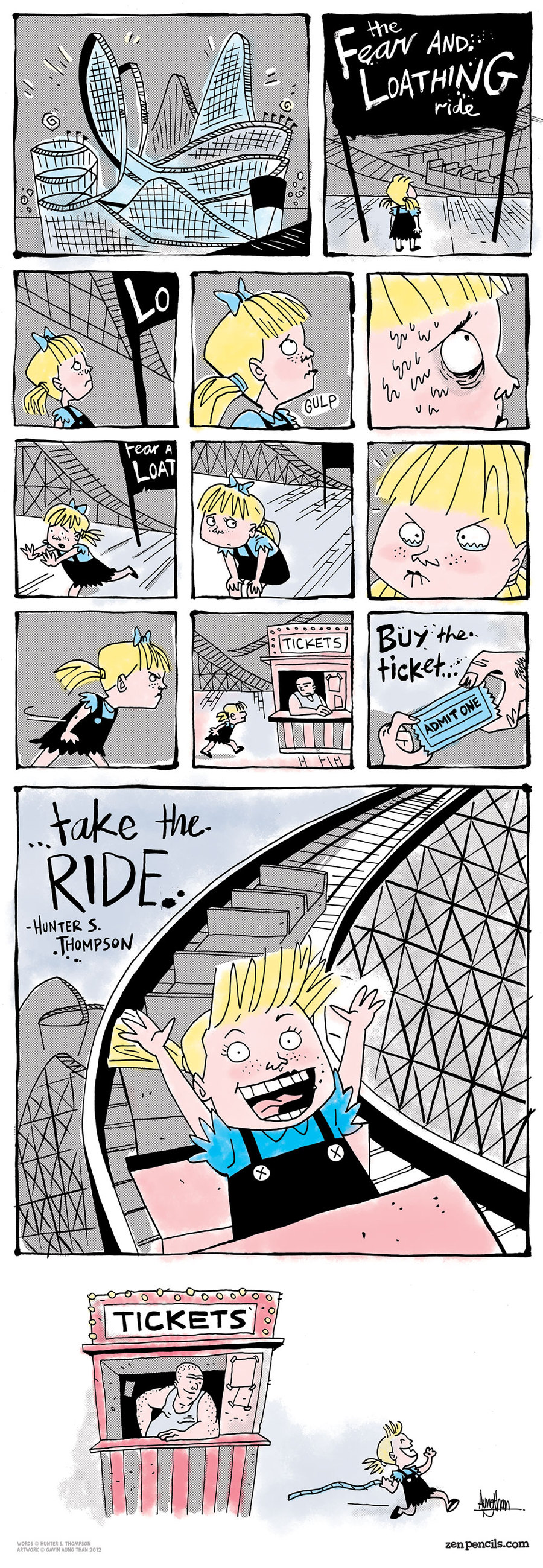 Zen Pencils for Aug 12, 2013 Comic Strip