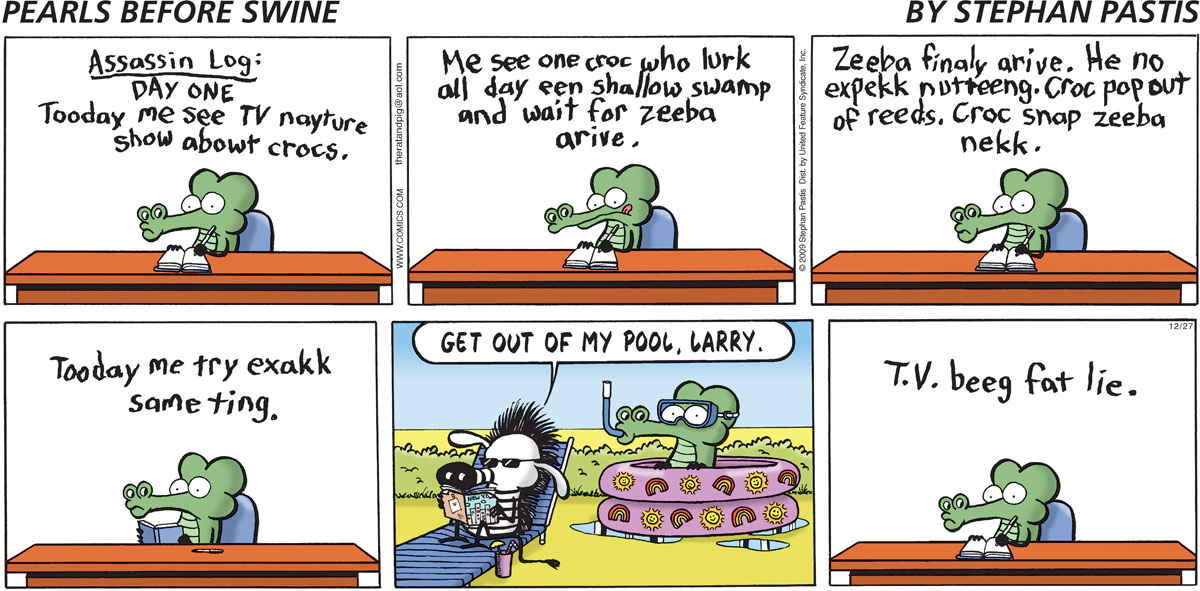 Pearls Before Swine Comic Strip for December 27, 2009