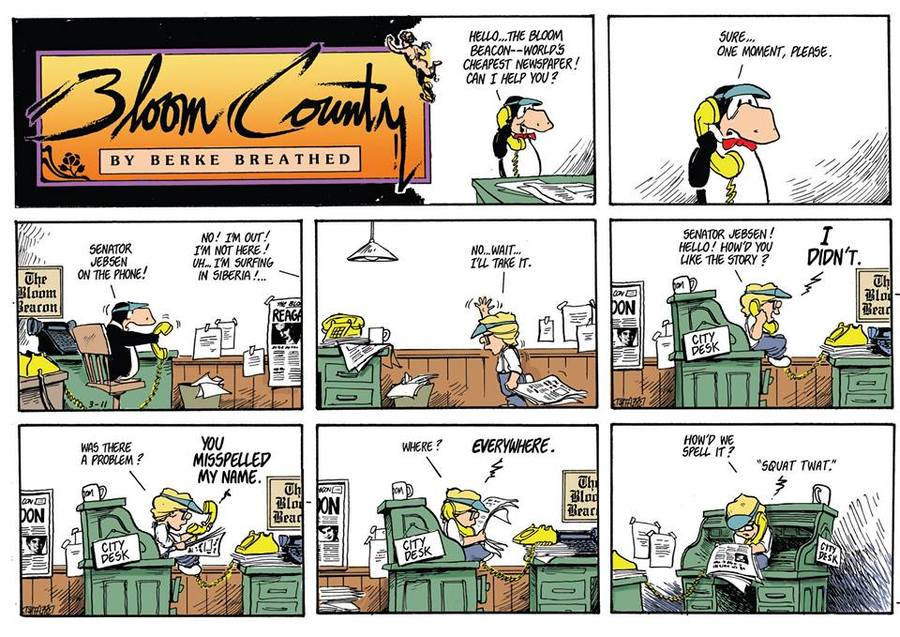 Bloom County 2019 Comic Strip for May 14, 2018