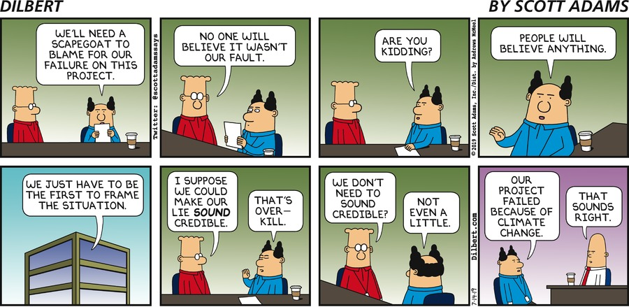 Finding A Scapegoat - Dilbert by Scott Adams