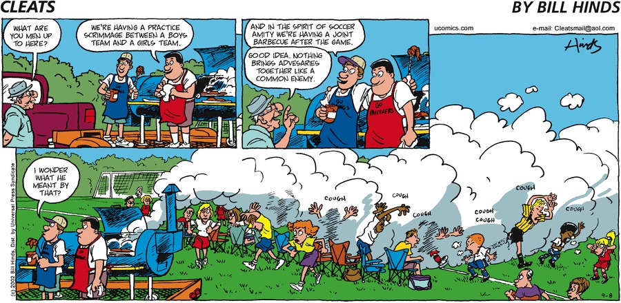 Cleats Comic Strip for September 08, 2002