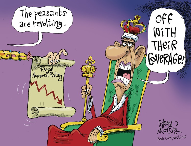Voice: The peasants are revolting. 