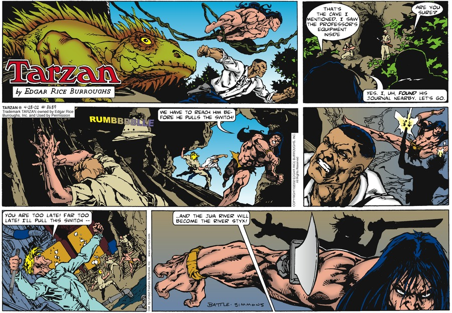 Tarzan Comic Strip for April 28, 2002