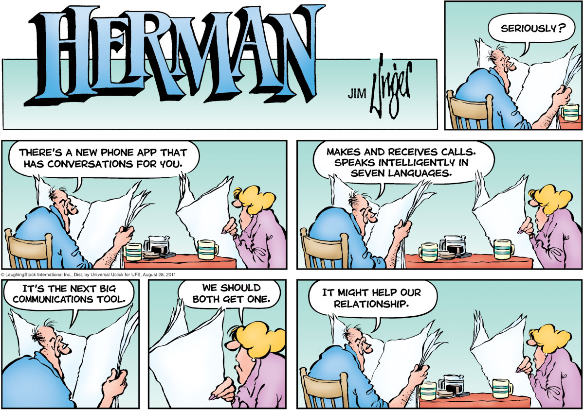 Herman Comic Strip for August 28, 2011