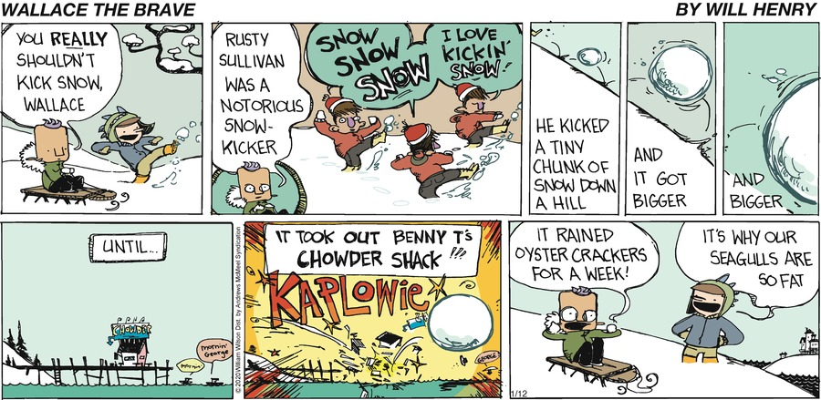 Wallace the Brave Comic Strip for January 12, 2020