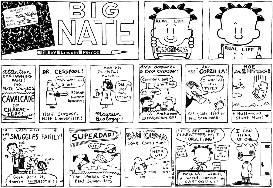 Big Nate: First Class Comic Strip for December 08, 2019