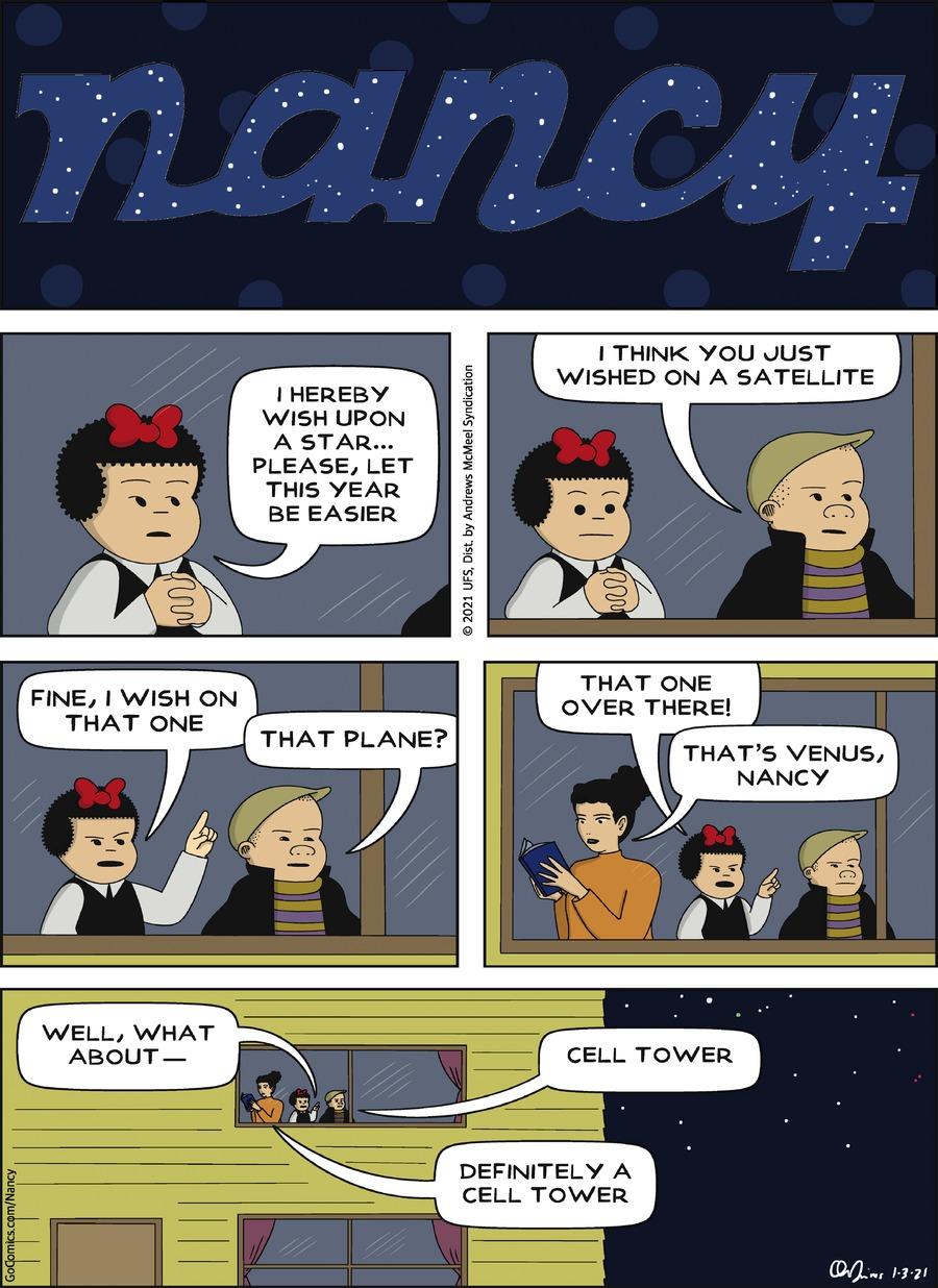 Nancy Comic Strip for January 03, 2021