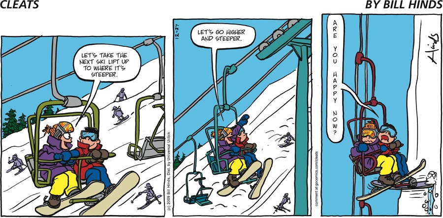 Cleats Comic Strip for December 30, 2018