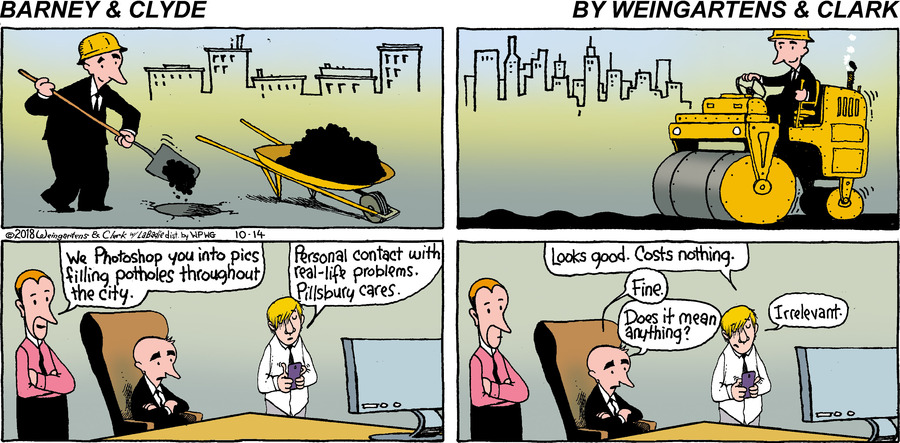 Barney & Clyde by Gene Weingarten, Dan Weingarten & David Clark for October 14, 2018