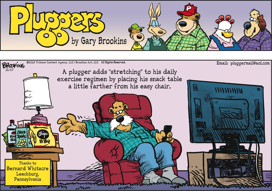Pluggers Comic Strip for November 17, 2019