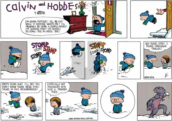 Calvin and Hobbes - Sunday February 7, 1988 Comic Strip