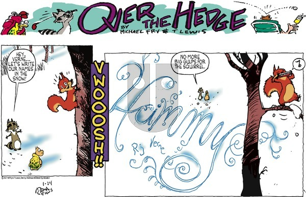 Over the Hedge on Sunday January 24, 2021 Comic Strip