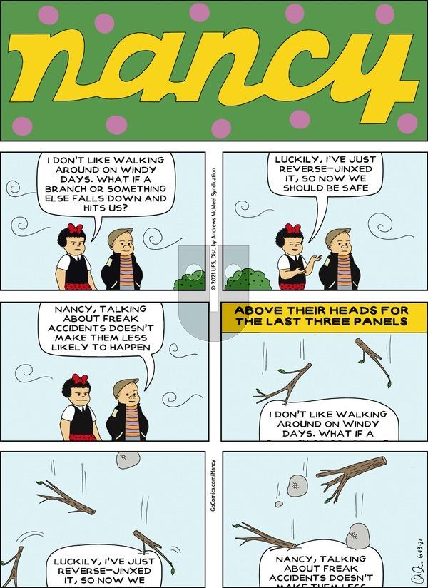 Nancy on Sunday June 13, 2021 Comic Strip