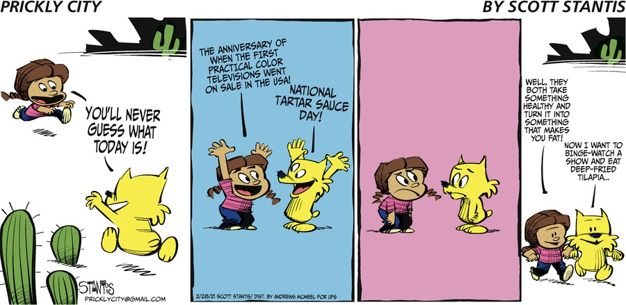 Prickly City Comic Strip for February 28, 2021