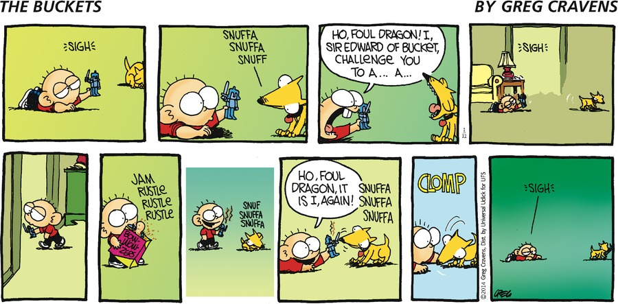 The Buckets for Jan 12, 2014 Comic Strip