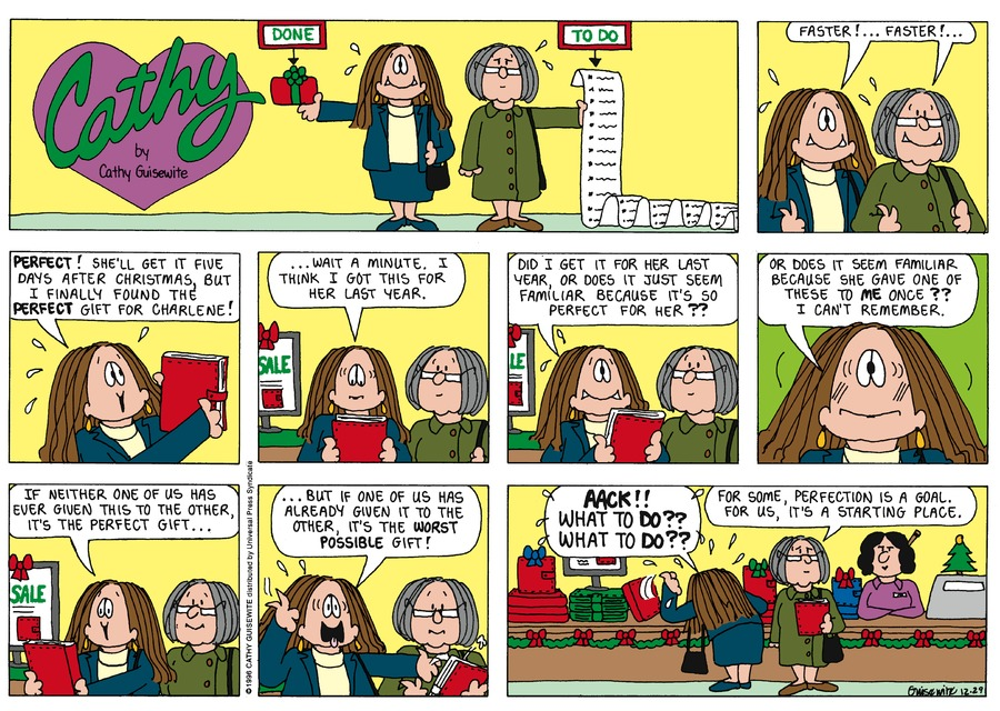 Cathy for Dec 29, 1996 Comic Strip