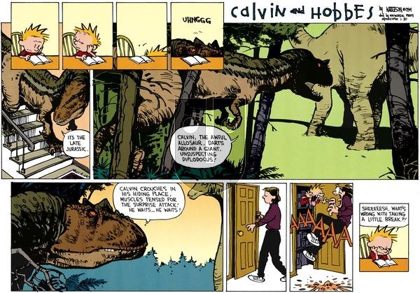 Calvin and Hobbes - Sunday January 30, 1994 Comic Strip