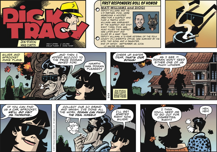 Dick Tracy Comic Strip for September 24, 2017
